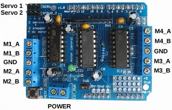 293D motor shield for Arduino