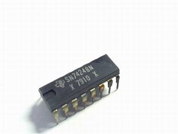 74248 BCD-TO-SEVEN-SEGMENT decoder/driver