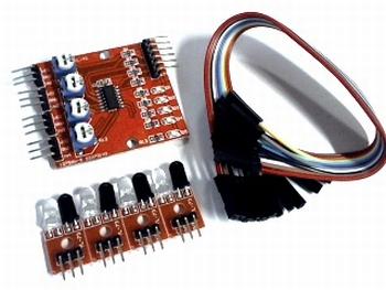 4 kanaals Line Tracking Sensor Module