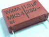 Capacitor MKS4 1uF 10% 250V