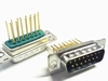 Sub D 15 pins male connector with long pins