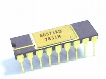 AD571KD ADC single SAR 10 bit parallel 18 pin SBC DIP