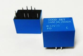 Relais SAM-SS-209DX 12V 15A SPDT 2x wissel op twee spoelen