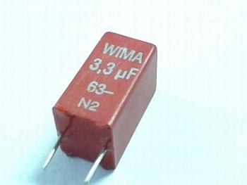 Capacitor  MKS2 3,3uF 10% 63V