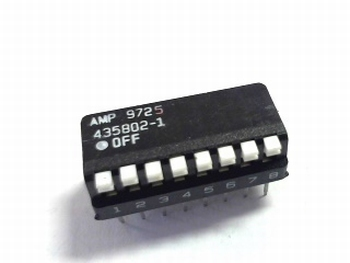 DIP switch 8x type AMP9725