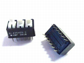 Dip switch 3x double pole
