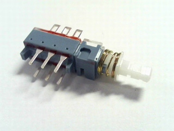 Pushswitch for PCB DPDT