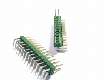 Double header 2x13 pins - 2.54mm bended