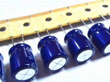 10 x electrolytic capacitors 10uf - 160 volts