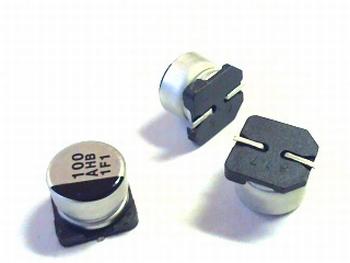 SMD electrolytic capacitor 100uF 10V aluminium Panasonic