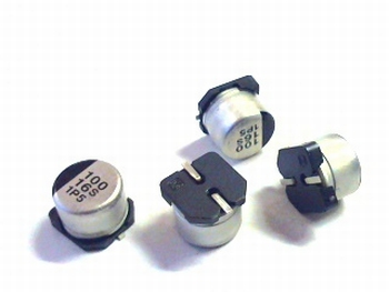 SMD electrolytic capacitor 100uF 16V aluminium Panasonic