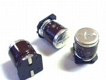 SMD ELCO 100uF 25V 105