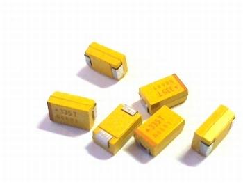 SMD Tantaal condensator 3,3 uf 50V