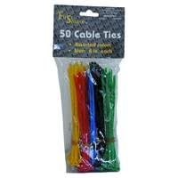 Assortment of coloured tie rips.