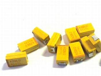 SMD Tantaal condensator 22uf 20V