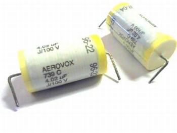 AEROVOX capacitor 4,02uF 100 volt