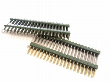 Double header 2x20 pins - 2.54mm straight
