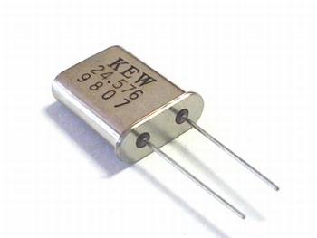 Quartz kristal 24,576 mhz HC18
