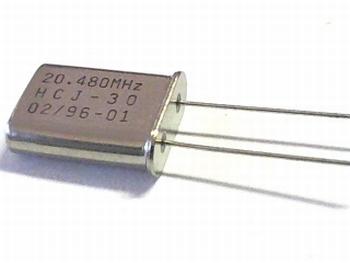 Quartz kristal 20,480 mhz