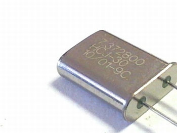 Quartz crystal  7,37280 mhz HC18