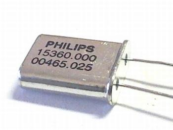 Quartz kristal 15,3600 mhz