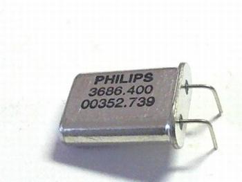 Quartz crystal 3,68640 mhz HC18