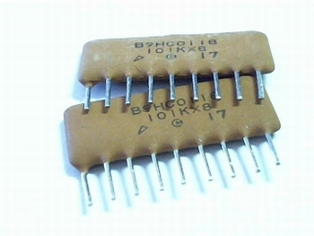 Ceramic capacitor network 8 x 100pf