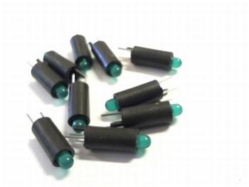 Ledhouder met groene led 3mm 10 stuks