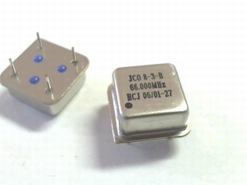 Quartz crystal oscillator 66 mhz