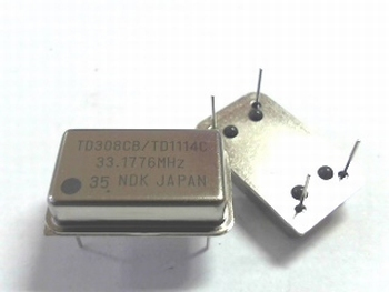 Quartz crystal oscillator 33,1776 mhz
