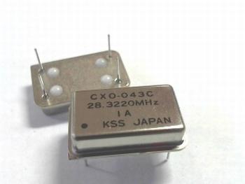 Quartz crystal oscillator 28,3220 mhz