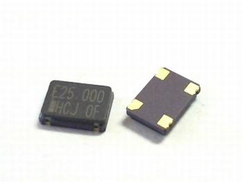 Quartz crystal oscillator SMD 25 mhz