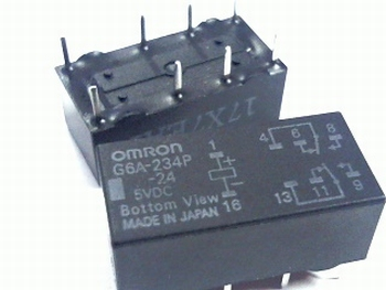 Relais Omron G6A-234P - 5VDC DPDT