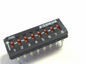 Dip switch 8 in 1 low profile