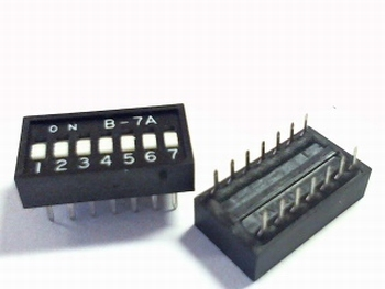Dip switch 7 in 1 black