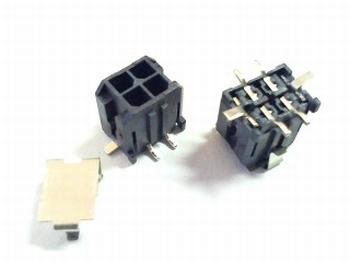 Microfit rechte header 4 polig haaks SMD
