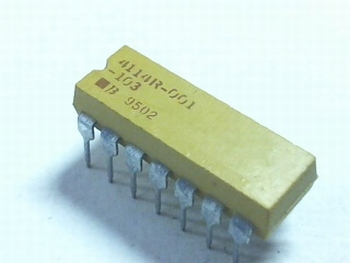 Resistor array 7x 10K DIP14