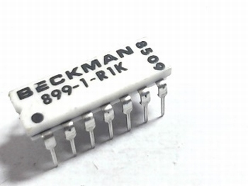 Resistor array 7x 1K DIP14