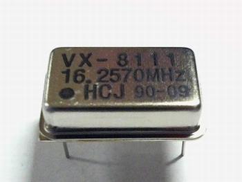 Quartz crystal oscillator 16,2570 mhz