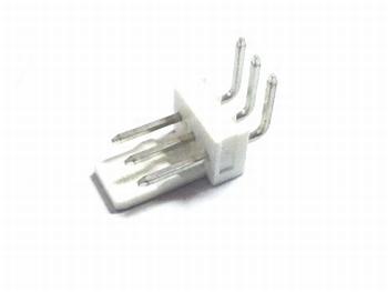 Header 3pins haaks wit - 2,54mm