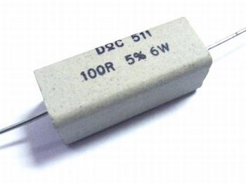 Weerstand 100 Ohm 6 Watt