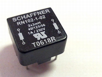 Inductor RN102-1-02 Schaffner 2x 3MH