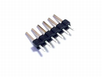 Header male 1x 6 pins 2,54mm straight