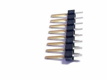Header male 1x 8 pins 2,54mm straight