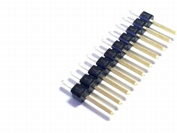 Header male 1x 10 pins 2,54mm straight