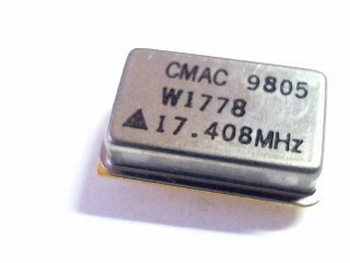 Quartz kristal oscillator 17,408 mhz