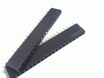 Female Header 2,54 mm straight 20 pins