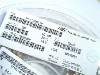 500 x SMD Tantal capacitor 10uf 16V on reel TAJC106M016R