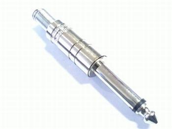 Metal jackplug 6,3mm MONO