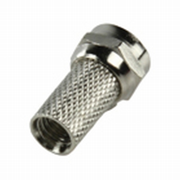 F connector, screw version  5 mm
